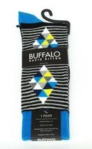 Buffalo David Bitton Gray Blue Prism Stripe Colorful Socks - $18 Retail ... - $11.69