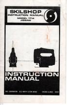 Vintage 1970 SKIL Skilshop #1714 Jigsaw Instruction Manual - $3.99