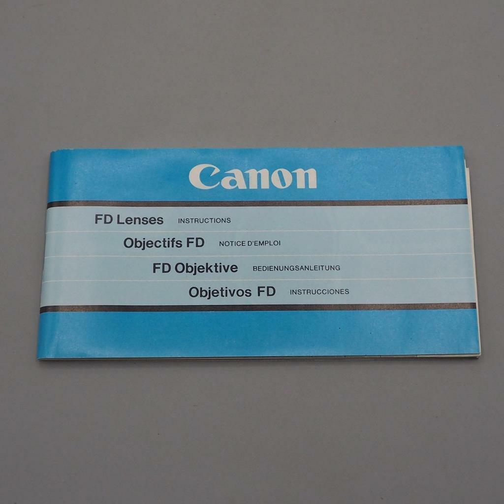 Primary image for Vintage Canon FD Lenses Instructions Manual / Booklet