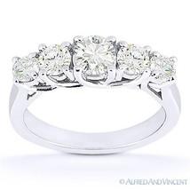 Forever ONE D-E-F Round Cut Moissanite 14k White Gold Trellis Wedding Ri... - €749,03 EUR+