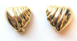 "Vintage Richelieu Gold-Tone ""Heart"" Clip Earrings - $11.40"