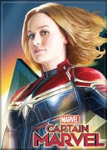 Captain Marvel Movie Carol as Captain Marvel Refrigerator Magnet NEW UNUSED - $3.99