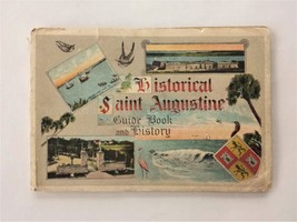 1913 antique PICTORIAL HISTORY and GUIDE BOOK SAINT AUGUSTINE fl MAP col... - $67.95