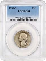 1932-S 25c PCGS Good-04 - Key Date - Washington Quarter - Key Date - $87.30