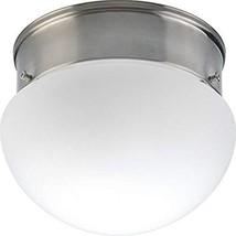"HomeStyle HS31000-09 One Light 6"" Mushroom CTC in Brushed Nickel - $25.91"
