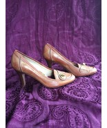 Coach Danyell Brown/Tan Leather Shoe, Size 7, EUC - $78.40