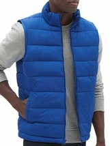 Gap Mens Admiral Blue Full Zip Warmest Puffer Vest Jacket Coat Large L 7601-5M - $40.09