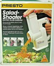 Presto 02910 Salad Shooter Electric Slicer Shredder Grater 1990 Vintage ... - $14.01