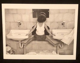 RUTH ORKIN Photograph Tirza on Sinks Israel 1951 9x12 Lithograph Portfol... - $23.19