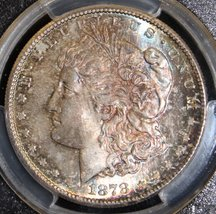 1878 S MS 65 Rainbow Toned Obverse & Reverse PCGS Graded Morgan Silver Dollar - $399.95