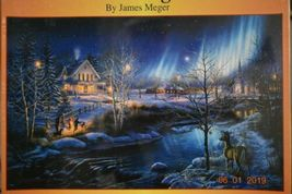 "ALL IS BRIGHT Puzzle 1000 piece Jigsaw by James Meger NEW 19""x30"" hidden Images - $7.49"