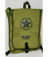 Call of Duty WWII Olive Green Nylon Backpack 07222009 Army Drawstring - $9.89