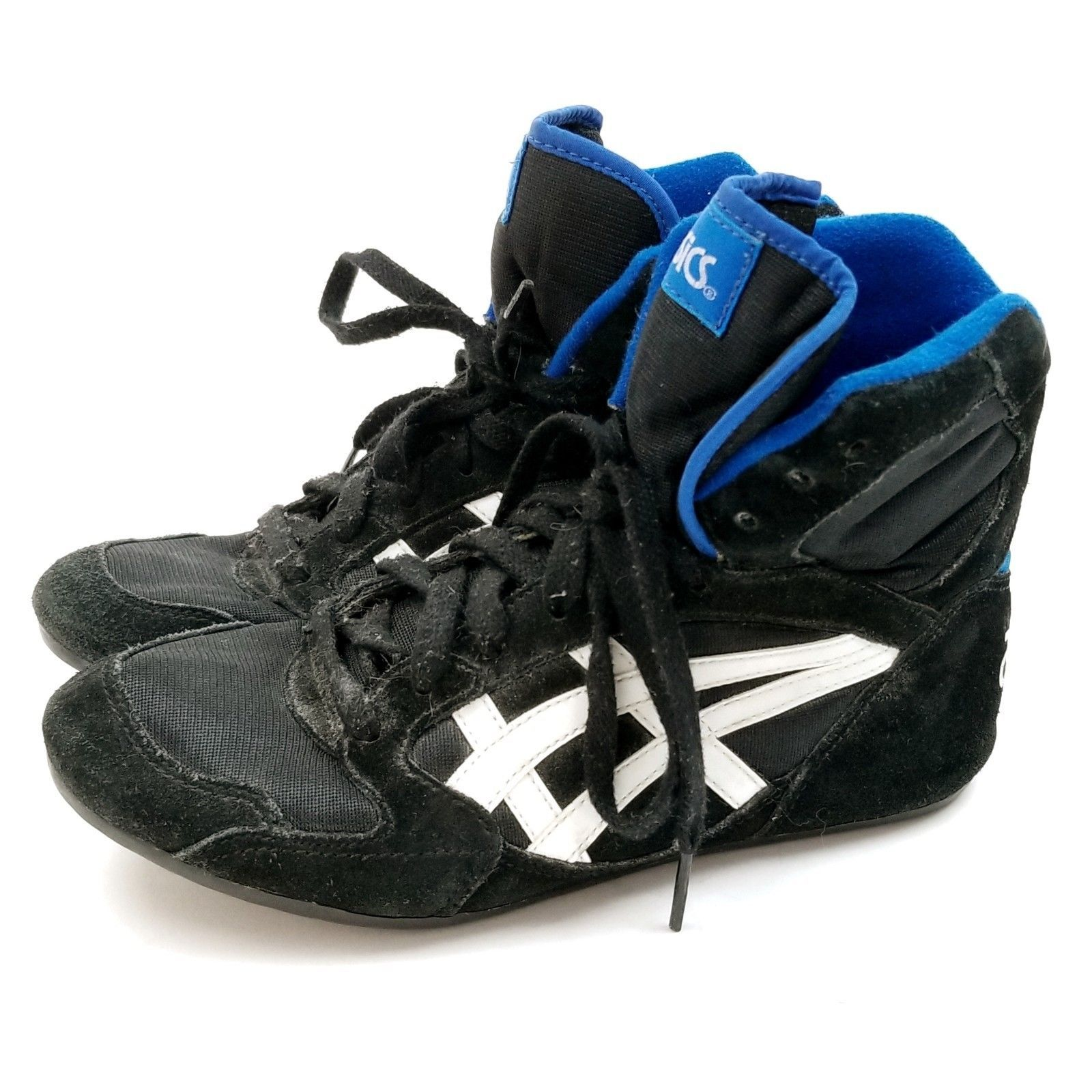 eed85071 Vintage ASICS Black Blue White Leather and 50 similar items