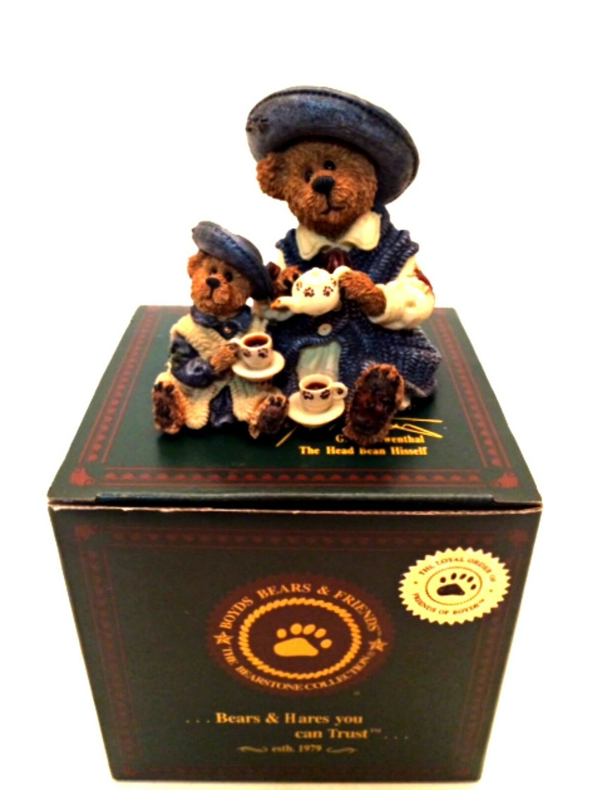 Primary image for Boyd's Bears Figurine Catherine and Caitlin Berriweather Fine Cup of Tea