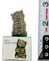 No.11 Bear Cub Miniature Animal Porcelain Figurine Picture Box Whimsies by Wade image 2