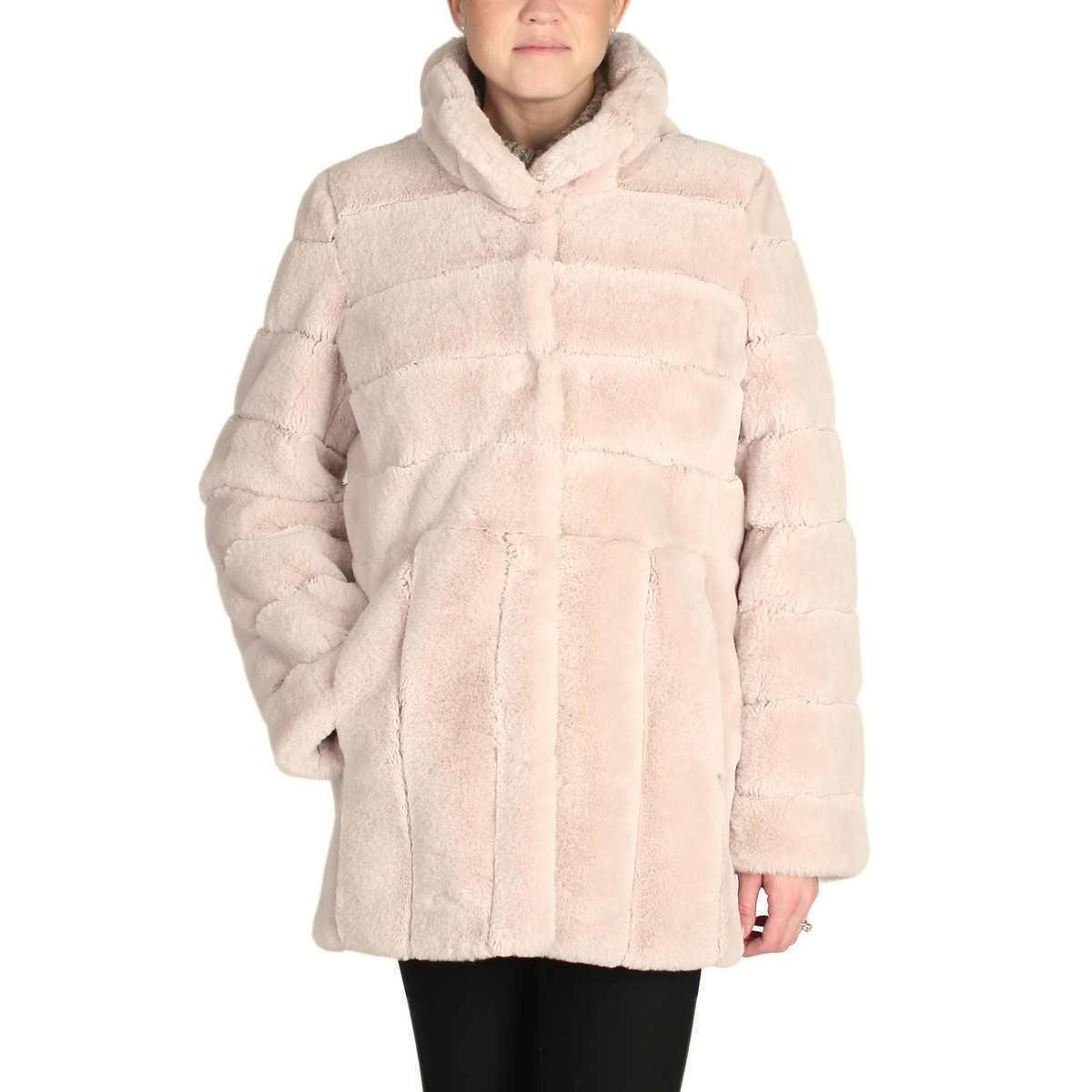 Kristen Blake Women's Ladies' Faux Fur Coat Jacket Size M NWT