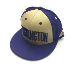 Adidas Washington Huskies NCAA Adjustable Snapback Hat Purple/Sand Size ... - $33.00