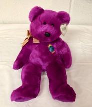 "1999 Beanie Buddies Buddy Magenta Plush 14"" Millennium Bear~MWMT/Tag Pro... - $10.00"