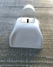 Metal Cow Bell White Rustic Primitive Home Decor New - $19.55
