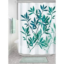 "iDesign InterDesign Leaves Fabric Shower Curtain-72 x 72"", Multi Color, ... - $21.57"