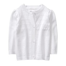 NWT Gymboree Cabana Baby Girls White Pointelle Cardigan Sweater  - $10.99