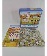 Buffalo Charles Wysocki So Proudly We Hail 1000 Piece Jigsaw Puzzle W/Po... - $16.65