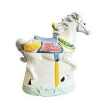 "Vintage 1991 Hearth & Home Designs Carousel Horse Cookie Jar 11"" Large - $178.99"