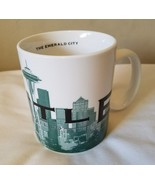 Starbucks Seattle 18oz Coffee Mug Skyline Series Emerald City Series One 2002 - $9.65