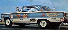 * Rev. Ronnie Sox 'Sox & Martin' '67 GTX S/S w/FC 'Mr. 5 & 50' S/S Decal - $25.00
