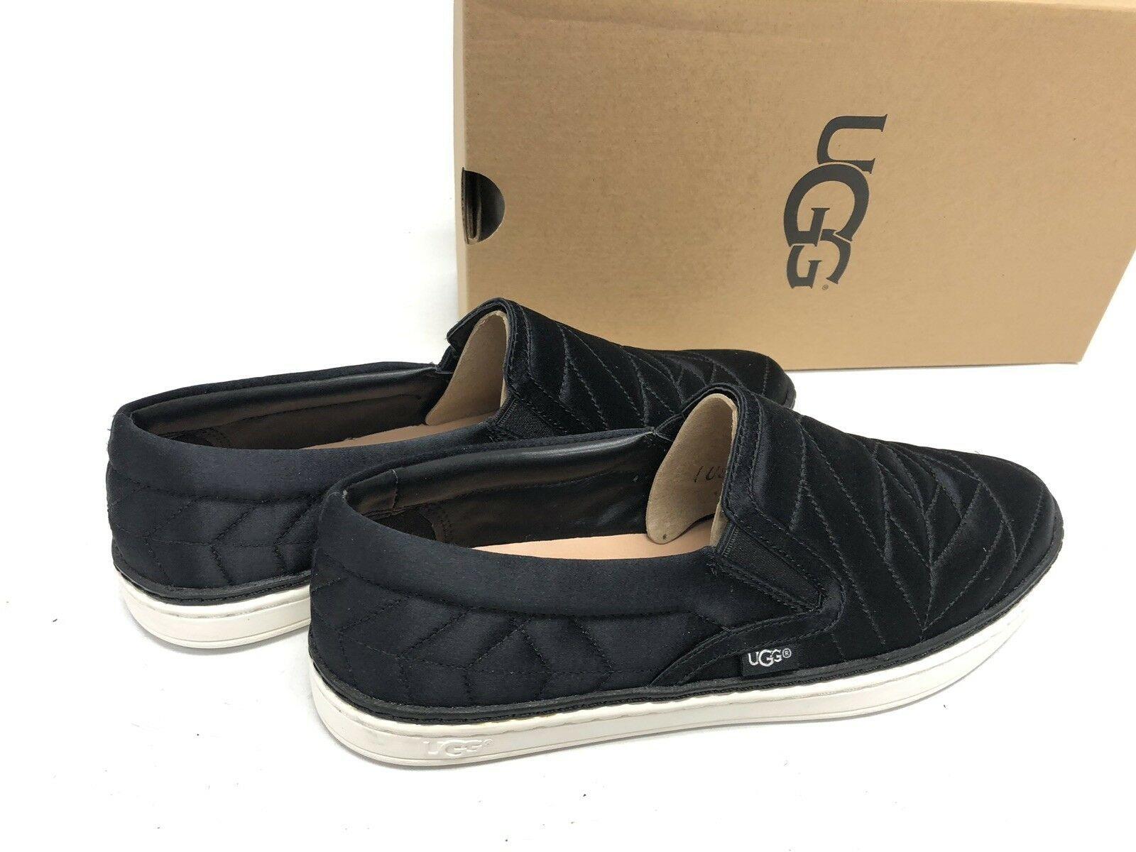 Ugg Australia Soleda Quilted Sneaker Black 1095533 Shoes Women's Slip On