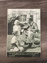 Bear Brand Bucilla Manual of Knitting and Crochet - Volume 69 1939 - $9.50