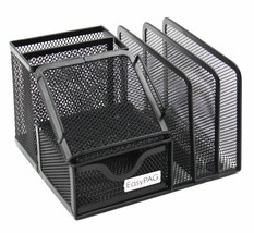 EASYPAG MESH OFFICE SUPPLIES DESK ORGANIZER CADDY WITH DRAWER - $15.20+