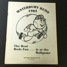 Vintage MLB Waterbury Reds 1983 Official Souvenir Program - $14.25