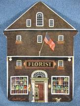 The Town Florist Charles Wysocki Folktown Collector Plate Bradford Exchange - $27.97