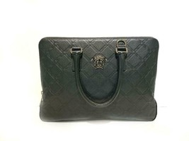 Versace New Document Computer Black Leather Laptop Bag  - $1,240.80