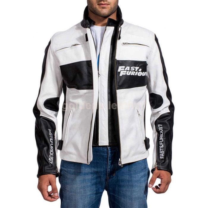New Men's Stylish Lambskin Genuine Leather Motorcycle Biker Slim Fit Jacket GN21