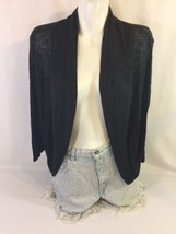 No Boundaries Women Black Blouse Size M Made In U.S.A Bin38#19 - $9.50