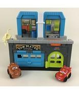 Fisher Price Little People Wheelies Mater's Garage Playset Disney Cars M... - $29.65