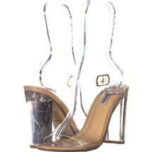 Steve Madden Camille Strappy Sandals 529, Clear, 8 US - $27.83
