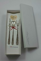 "Repousse by Kirk Sterling Silver ""I Love You"" Serving Set 3pc Custom Made - $195.00"