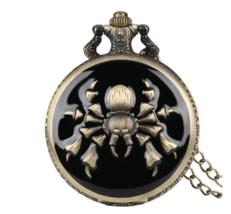 Retro The Legend of Zelda Theme Quartz Pocket Watch Spider Pattern - $11.50