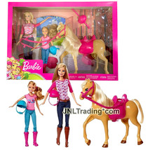 Year 2018 Barbie Fashionistas Doll Playset - BARBIE, STACY and Pony Hors... - $84.99