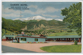 Garden Motel US Highway 24 Manitou Springs Colorado 1958 postcard - $6.44