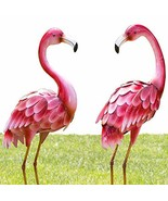 "Bits and Pieces - Set of Two 2 35 ½"" Tall Metal Flamingo Garden Statues ... - $115.00"
