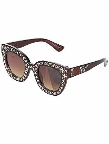 Trendy Star Studded Sunglasses (Brown)