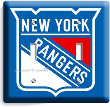 Nyr New York Rangers Nfl Hockey Ny Team Double Light Switch Wall Plate Art Cover - $13.99