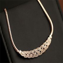 Gold Silver Luxury Shiny Rhinestone Necklaces & Pendants For Women - $12.70