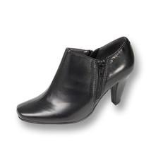 PEERAGE Kacey Women Wide Width Mid Heel Closed Toe Black Leather Dress B... - $69.95