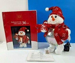 "Christmas Snowman Fiber Optic Color Changing & lighting effect 14"" Holid... - $35.92"