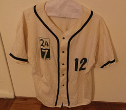 Vintage 24/7 Media Badger Sportswear Baseball Softball Shirt XL 100% Cot... - $29.95